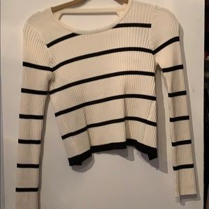 Striped top with open back